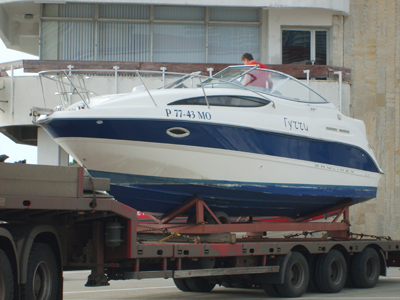 перевозка катера в Сочи