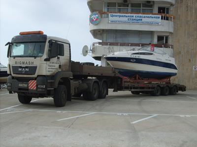 транспортировка катера в Сочи